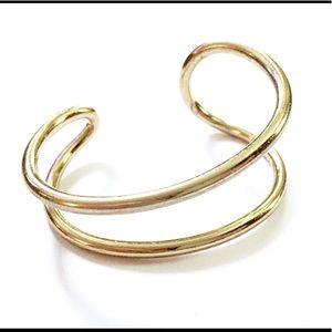Gold Modernist Cuff Bracelet